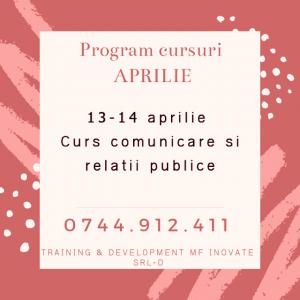 Read more about the article Cursuri luna APRILIE 2019